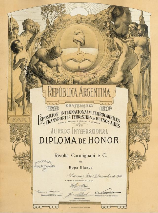 Rivolta Carmignani dal 1867 medaglia d'onore Expo internazionale