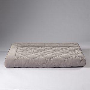 plaid velluto grigio perla lounge